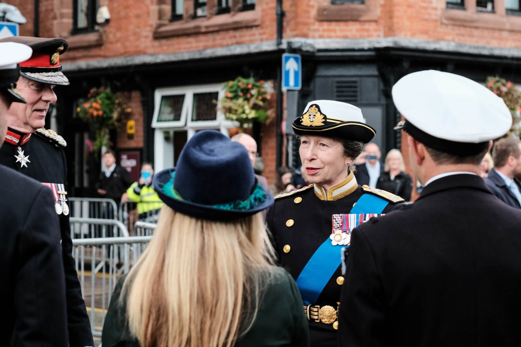 Princess Anne visit to Chester