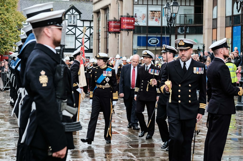 Princess Anne visit to Chester & HMS Albion Crew